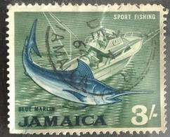 141. JAMAICA (3/-) USED STAMP SPORTS, FISHING - Jamaica (1962-...)