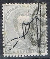 Sello 25 Cts Amadeo, Colonia Española PUERTO RICO 1873, Habilitado,  Num 1 º - Puerto Rico