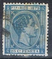 Sello 25 Cts Alfonso XII, Colonia Española PUERTO RICO 1879,  Num 26 º - Puerto Rico