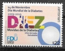 URUGUAY, 2019, MNH,  HEALTH,  WORLD DIABETES DAY, 1v - Ziekte