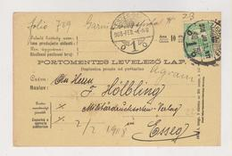 CROATIA HUNGARY ZAGREB 1908 Postcard - Croazia