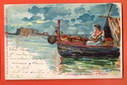 ZAJ-07 Litho Conserves De Saxon Arrivage Des Tomates à Naples Napoli. Dos Simple.Sceaux St.-Luc Et Monthey 1904 - VS Wallis