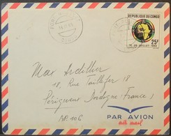 Congo - Cover To France 1965 African Games 25F Solo Fort-Rousset - FDC