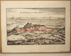 Amöneburg Bei Gießen - Original-Kupferstich ~ Um 1650 - Giessen