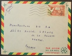 Congo - Cover To France 1965 Telephone 25F Solo - FDC