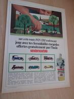 SPITIN20 Page Revue Années 60/70 : PUBLICITE HUILE VANDEMOORTELE VOITURES MINIATURES OFFERTES - Reclame - Alle Merken