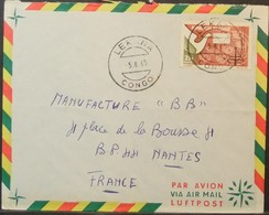 Congo - Cover To France 1965 Telephone 25F Solo Lekana - FDC
