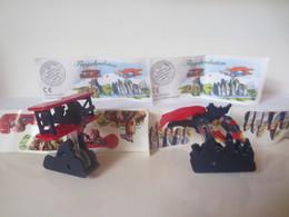 Kinder Surprise Deutch 1999/ 2000 : Série Flugakrobaten + 2 BPZ + 2 Stickers - Montables