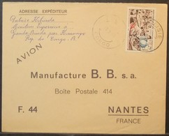 Congo - Cover To France 1965 Education Globe Map 25F Solo Dolisie - FDC