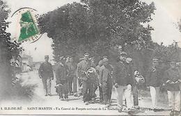 ILE De RE  ( 17 ) -  SAINT MARTIN  - Un Convoi De Forçats Arrivant De La Rochelle - Prison