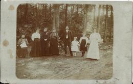 VILLERS-la-VILLE - Bois - Deux Cartes-photos Représentant Des Membres D'une Famille Deterville-Lambillotte Alice (Jumet) - Villers-la-Ville