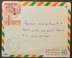 Congo - Cover To France 1965 Telecom Congress 25F Solo Dolisie - FDC
