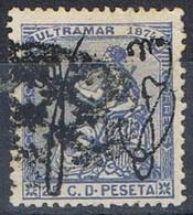 Sello 25 Cts Alegoria, Colonia Española PUERTO RICO 1874,  Num 4 º - Puerto Rico