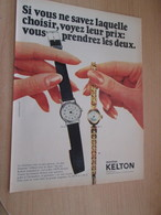 SPITIN20 Page Revue Années 60/70 : PUBLICITE MONTRES KELTON - Publicidad