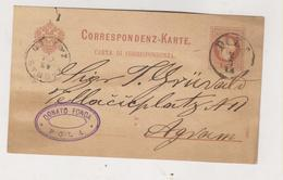 CROATIA AUSTRIA POLA PULA 1883 Postal Stationery - Croazia