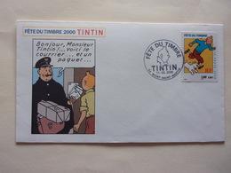 FDC Tintin Milou Mont-Saint-Martin Facteur 11-03-2000 Chien Dog - Bandes Dessinées