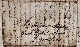 "1809 Four Page Letter To ""Serjient(?) Shepherd, Great Russel Street, Bloomsbury""   0773 - Manuscritos"