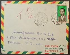 Congo - Taxed Cover To France 1966 Massamba-Debat 25F Solo Brazzaville Poto-Poto - FDC