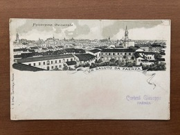 UN SALUTO DA FAENZA PANORAMA GENERALE  1908 - Faenza