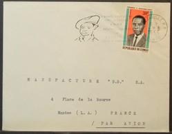 Congo - Cover To France 1966 Massamba-Debat 30F Solo Military School General Leclerc On Cancel - FDC