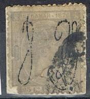 Sello 25 Cts Alfonso XII, Colonia Española PUERTO RICO 1876, Habilitado,  Num 8 º - Puerto Rico