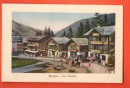 ZAJ-13  Morgins  Les Chalets, TRES ANIME. Circulé 1913  Jullien 9023 - VS Valais