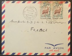Congo - Cover To France 1966 Fauna Antelope - FDC
