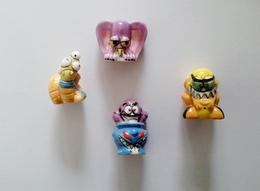 Fève- 4 Fèves Série Crayo Monstres(creuses) - Otros