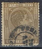 Sello 50 Cts Alfonso XII, Colonia Española PUERTO RICO 1877, Fechador Puerto Rico,  Num 17 º - Puerto Rico