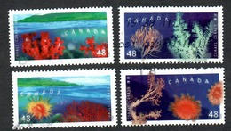Sc. # 2205-06 Coral Found In Canadian Waters Set 2002 Used K651 - 1952-.... Règne D'Elizabeth II