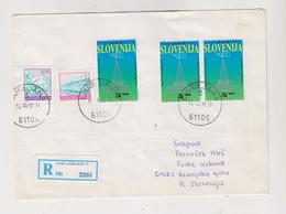 SLOVENIA 1991 LJUBLJANA Registered Cover Mixed Franked With Yugoslavia Stamps - Slowenien