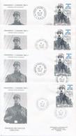DP-367: DE GAULE: Lot Avec TAAF  N°118   4CP Et 4 Env Obl Différentes +1 Env - De Gaulle (General)