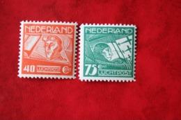 Koppen En Van Der Hoop WM Horizontal NVPH LP4-LP5 LP 4 (Mi 213-214) 1928 POSTFRIS / MNH / ** NEDERLAND / NIEDERLAND - Luchtpost