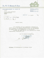 Fa. W.E. Reitsma & Zoon, Grouw, 1952 - Netherlands