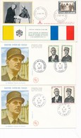 DP-368: DE GAULE: Lot Avec 6 Env Et CP - De Gaulle (General)