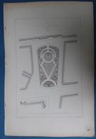 BRUXELLES 10 PLANS 52 X 35 CM - ARCHITECTURE H.BEYAERT - VOOR ,, SQAURE DE LA PLACE PETIT SABLON ,, ZIE 10 AFBEELDINGEN - Arquitectura