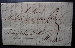 Italie, 1835 Lettre Pour Rome Adressée à Un Chevalier Au Palais Mariscotte à Rome, à Traduire ! - Italien