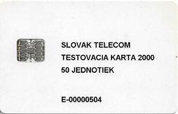 Slovakia - Slovak Telekom - Test Card 2000, 50Units, 1.000ex, Used - Slowakije