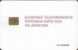 Slovakia - Slovak Telekom - Test Card 2002, Gem5 Red, 100Units, 1.000ex, Used - Slowakije