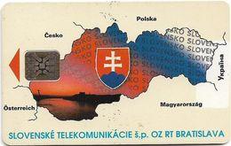 Slovakia - T-com - Map Of Slovakia II - 1993, SC5, 75Units, Cn. Red, 30.000ex, Mint - Slowakije