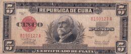 Ref. 1194-1616 - BIN CUBA . 1938. CUBA 50 PESOS 1938 MAXIMO GOMEZ - Kuba