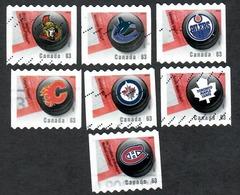 Sc. # 2662-68 NHL Team Logos Coil Set Used 2007 K657 - 1952-.... Règne D'Elizabeth II