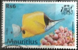 141. MAURITIUS 2000 (Rs 6) USED STAMP MARINE LIFE , FISH - Mauritius (1968-...)