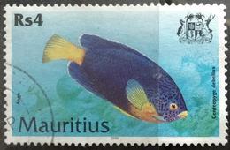 141. MAURITIUS 2000 (Rs 4) USED STAMP MARINE LIFE , FISH - Mauritius (1968-...)