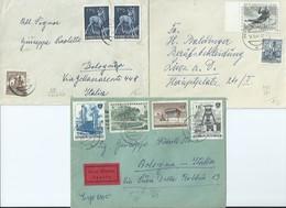 1961 And Others - 3 Various Postage Envelopes - 1961 E Altri, 3 Buste Affrancatura Varia - 1945-.... 2ème République