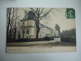 Cpa 60 Carte Colorisee Liancourt Ecole Ile De France - Liancourt