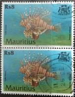 141. MAURITIUS 2000 (Rs 8) USED STAMP MARINE LIFE , FISH - Mauritius (1968-...)