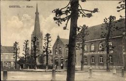 Cp Gistel Westflandern, Marktplatz, Katholieke Jonkhoofd?, Kirchturm - Belgique