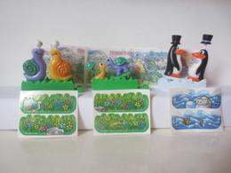 Kinder Surprise Deutch 1999/ 2000 : Série Tierisches Rendez-vous + 3 BPZ + 3 Stickers - Montables