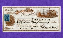 USA Check Office Of Glencoe Mills 1883 RARE ! - Non Classificati